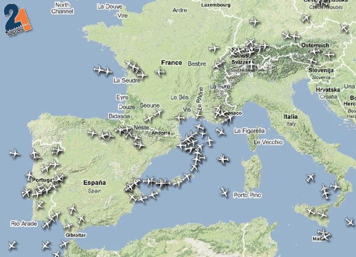 21degrees: Pas d'amélioration sur Genève avant jeudi matin, les cendres touchent le Canada aujourd'hui