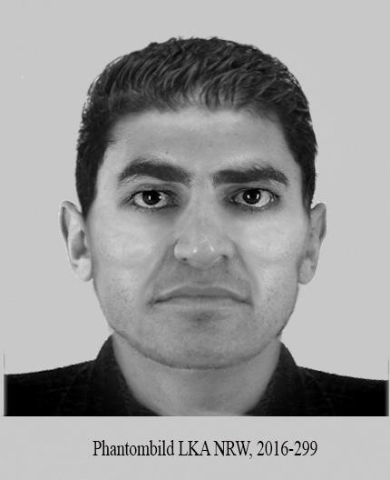 POL-D: Nach versuchtem schwerem sexuellen Übergriff im Volksgarten - Polizei fahndet mit Phantombild nach dem Täter