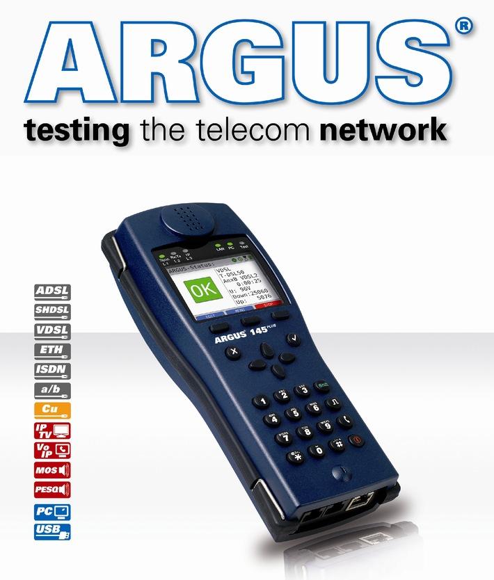 CeBIT 2010: ARGUS Triple Play- und xDSL-Kombitester mit erweitertem Funktionsumfang (mit Bild)