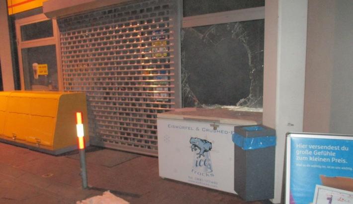 POL-HA: Mercedes ohne Kennzeichen - Blitzeinbruch in Tankstelle