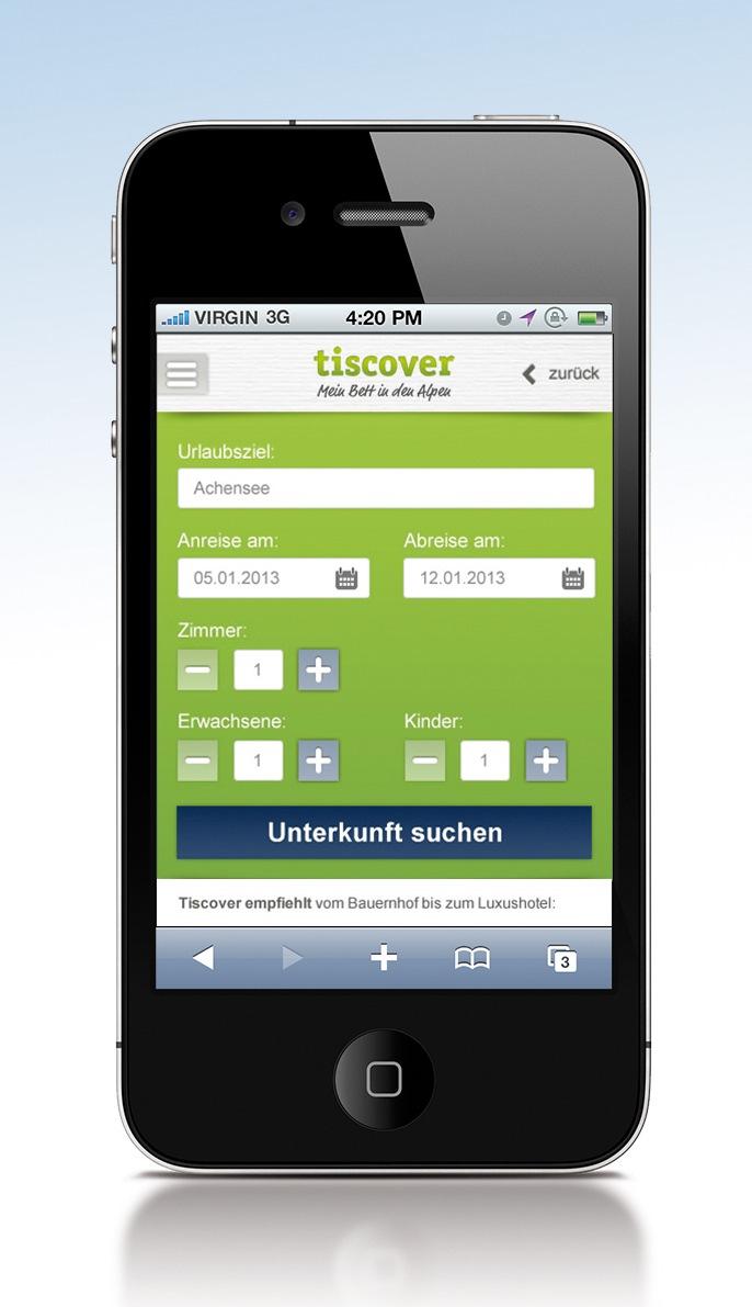 Schon jede sechste Alpen-Unterkunft wird mobil gebucht - BILD