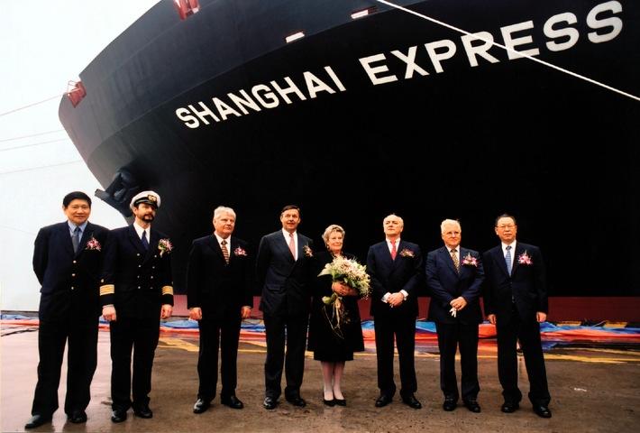 """Taufe in Hamburgs Schwesterstadt / """"Shanghai Express"""" verstärkt die Flotte"""