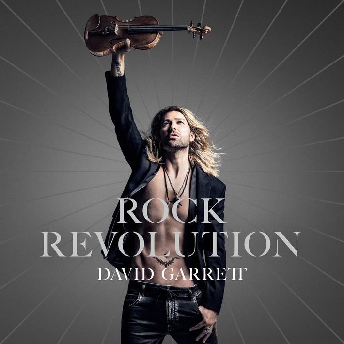 """DAVID GARRETT veröffentlicht sein neues Album """"ROCK REVOLUTION"""" am 15. September"""