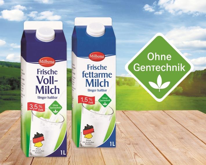 """""""Ohne Gentechnik"""": Lidl setzt entscheidende Meilensteine / Ab Juli 2016 bundesweit in allen Filialen zertifiziert gentechnikfreie Frischmilch der Eigenmarke """"Milbona"""" - weitere Produkte folgen rasch"""