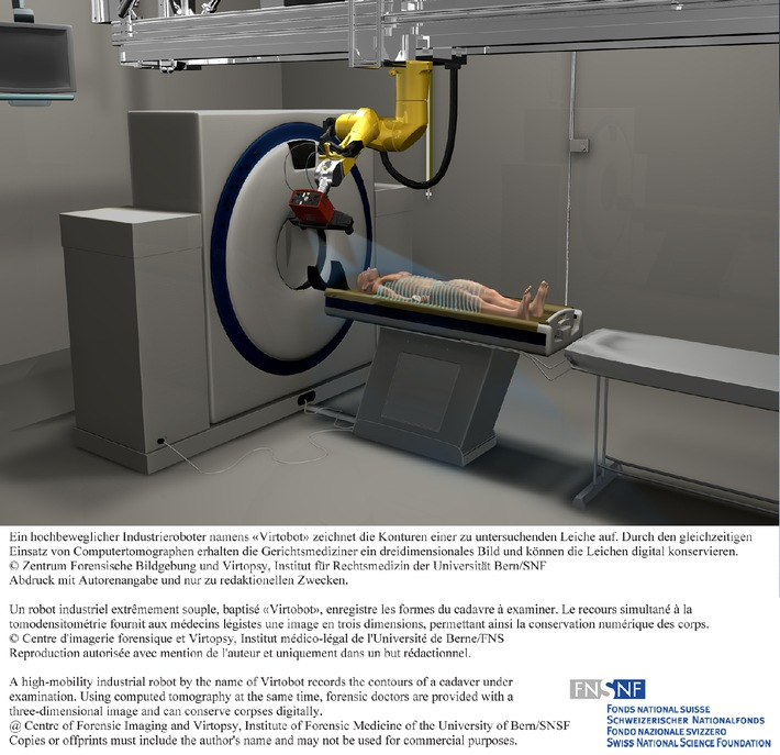 SNF: Bild der Forschung 2010: Roboter ermöglicht virtuelle Autopsien