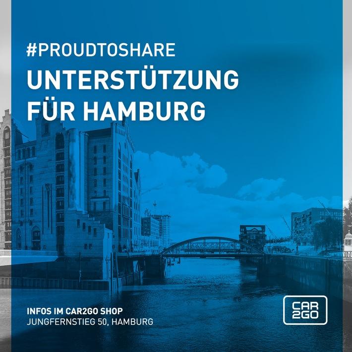Brandstiftungen beim G20-Gipfel: car2go hilft betroffenen Hamburger Autofahrern