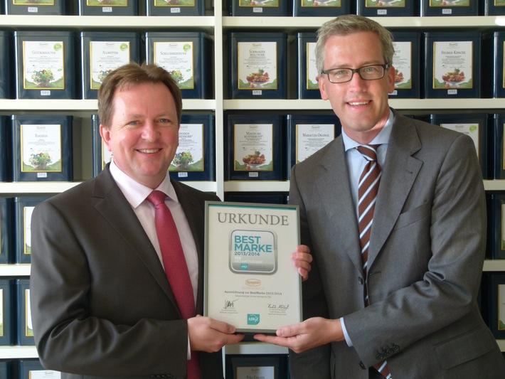 """Ronnefeldt erhält Auszeichnung """"BESTMARKE Kategorie Tee"""" der renommierten AHGZ-Imagestudie 2013/2014 vom Matthaes Verlag"""