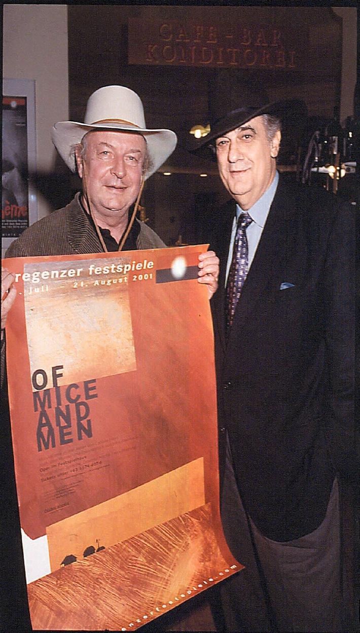Plácido Domingo als Ko-Partner bei den Bregenzer Festspielen 2001