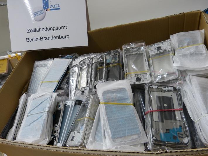 ZOLL-BB: Mit falschen Handys gehandelt /  Zollfahndung stellt mehrere Hundert gefälschte Handygehäuse sicher