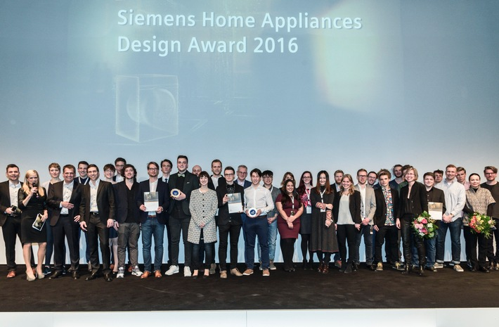 Siemens Home Appliances Design Award 2016 / Auszeichnung für junges Produkt- und Interaktionsdesign geht an interdisziplinäres Team aus Schwäbisch Gmünd