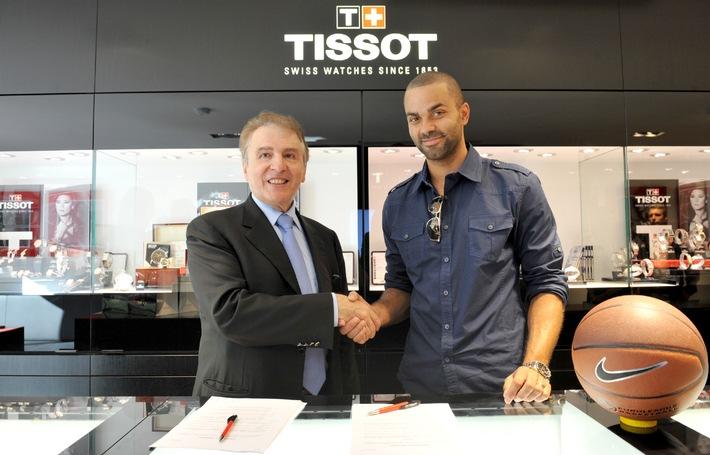 Tissot nimmt Basketballspieler Tony Parker als globalen Markenbotschafter unter Vertrag