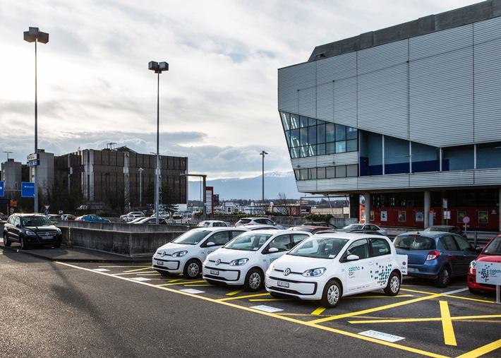 Catch a Car arrive à l'aéroport de Genève