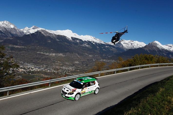 """SKODA verteidigt Führung bei der  """"Rallye International du Valais"""""""