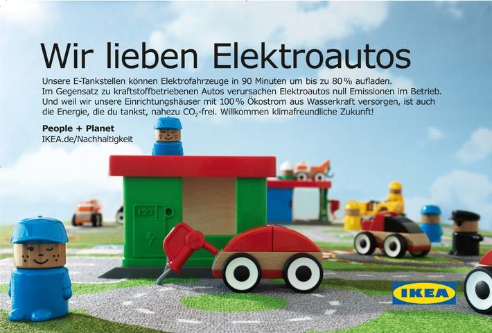 Beitrag zur E-Mobilität: IKEA setzt auf schnelle E-Tankstellen / Spatenstich in Sindelfingen als Auftakt für Baden-Württemberg
