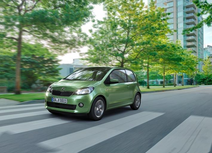 SKODA Citigo mit automatisiertem Schaltgetriebe ab sofort auch in besonders sparsamer Green tec-Version erhältlich