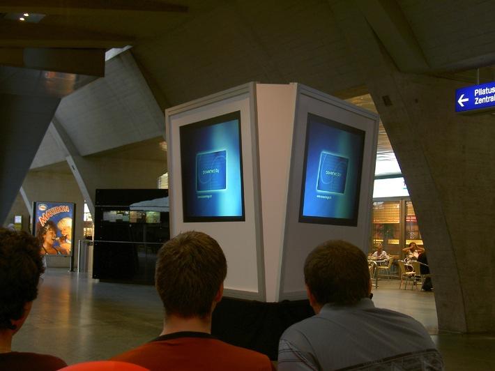 screenIMAGE GmbH: Multimedia am Bahnhof Luzern