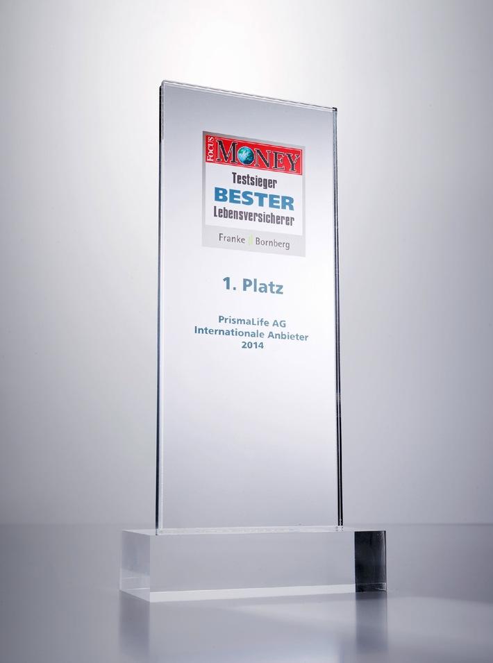 "Focus-Money Versicherungspreis ""Bester Lebensversicherer 2014"" geht an PrismaLife"