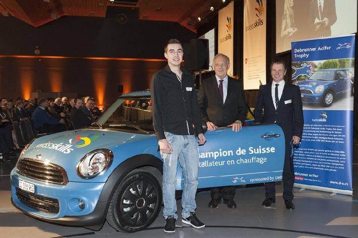 Le Jurassien Jim Leuenberger remporte le Debrunner Acifer Trophy / SwissSkills soutient le Debrunner Acifer Trophy