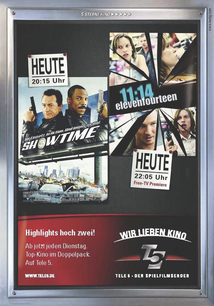 Viertel nach Elf ist Showtime auf Tele 5 - Spielfilmsender mit Kampagne zu April-Highlights