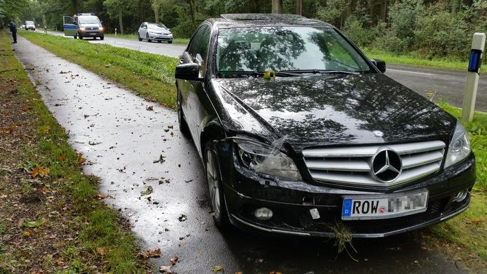 beschädigter Mercedes