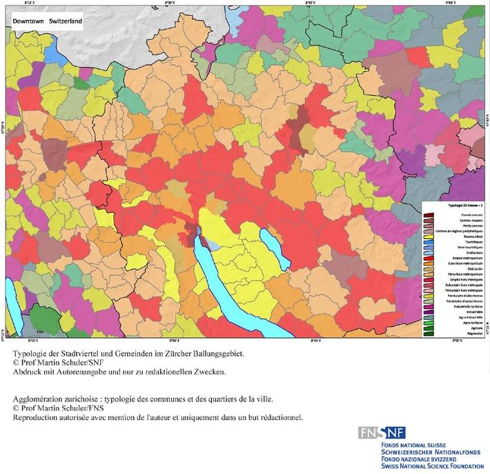 SNF: Bild des Monats Dezember 2008: Das NFP 54 legt eine städtische Quartiertypologie vor