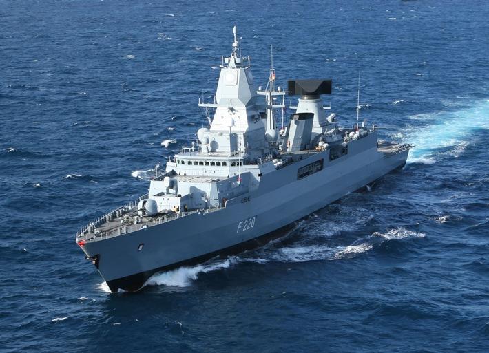 """Fregatte """"Hamburg"""" ist NATO-Flaggschiff"""