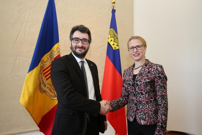 ikr: Aurelia Frick trifft Bildungsminister von Andorra