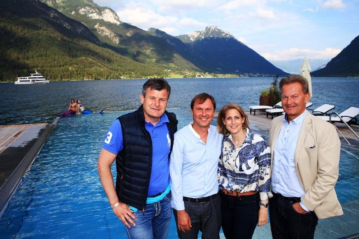 """Exklusive """"Seepool-Party"""" zur Eröffnung der neuen Strandlounge in Pertisau"""