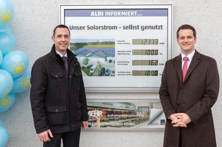 Erfolgreich für die Umwelt: ALDI S�D feiert das 1000. Solardach