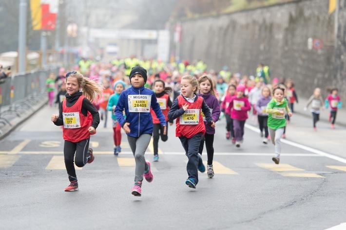 Grazie alla Migros 70 000 bambini partecipano gratuitamente alle corse popolari