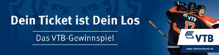 Die VTB Direktbank verlost tolle Preise beim nächsten Heimspiel des Eishockeyteams Löwen Frankfurt am 25.01.2015 in der Eissporthalle Frankfurt
