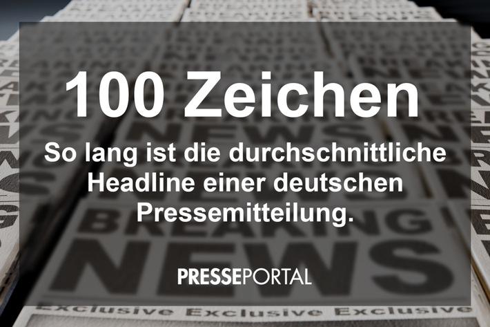 BLOGPOST: Länge der Headline einer Pressemitteilung: 100 Zeichen