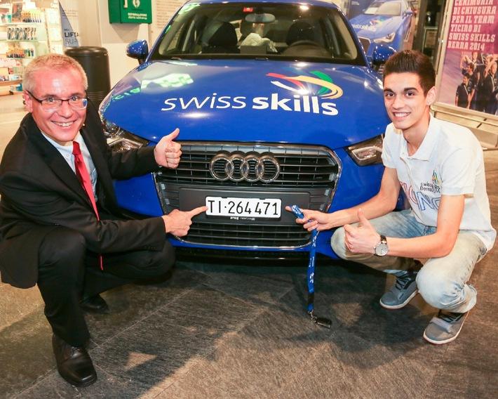 Blerton Ahmeti aus Paradiso/TI, gewinnt die Debrunner Acifer Trophy / Die Debrunner Acifer Trophy wird von SwissSkills unterstützt