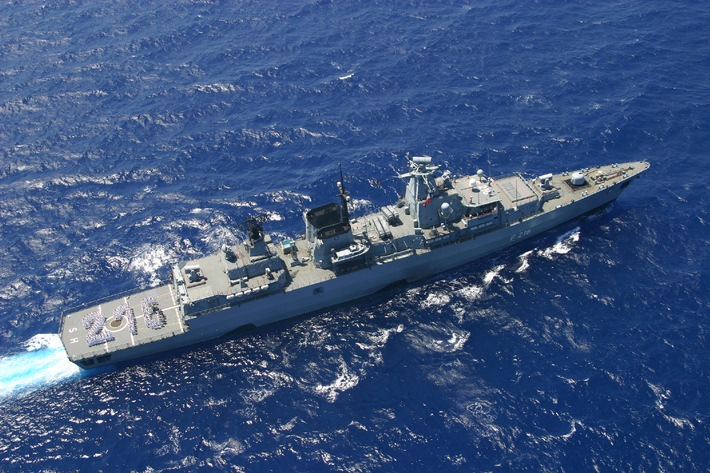 """Marine - Pressemitteilung / Pressetermin: Fregatte """"Schleswig-Holstein"""" beteiligt sich an Anti-Piraterie-Mission """"Atalanta"""""""