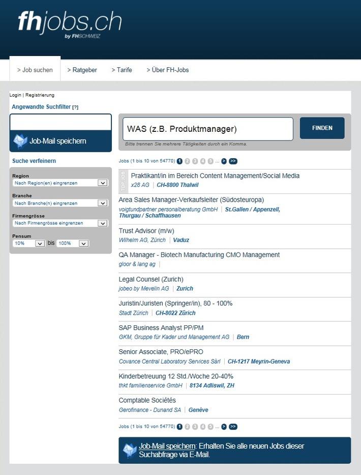 fhjobs.ch - Job finden leicht gemacht