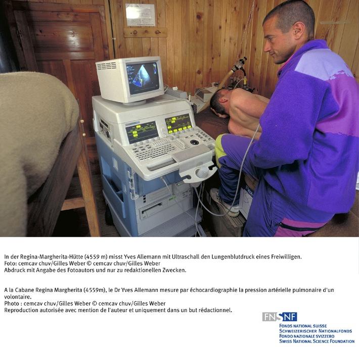 FNS: Image du mois mars 2007: Déclenchement de l'oedème pulmonaire de haute-altitude