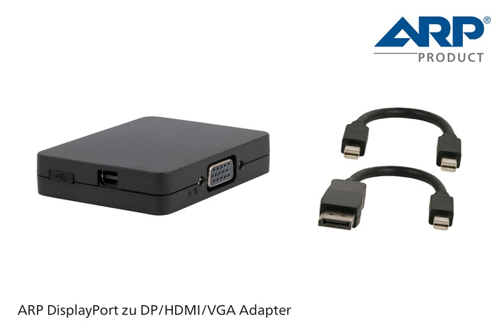 Das Multitalent unter den Video-Adaptern: Der neue ARP DisplayPort Adapter