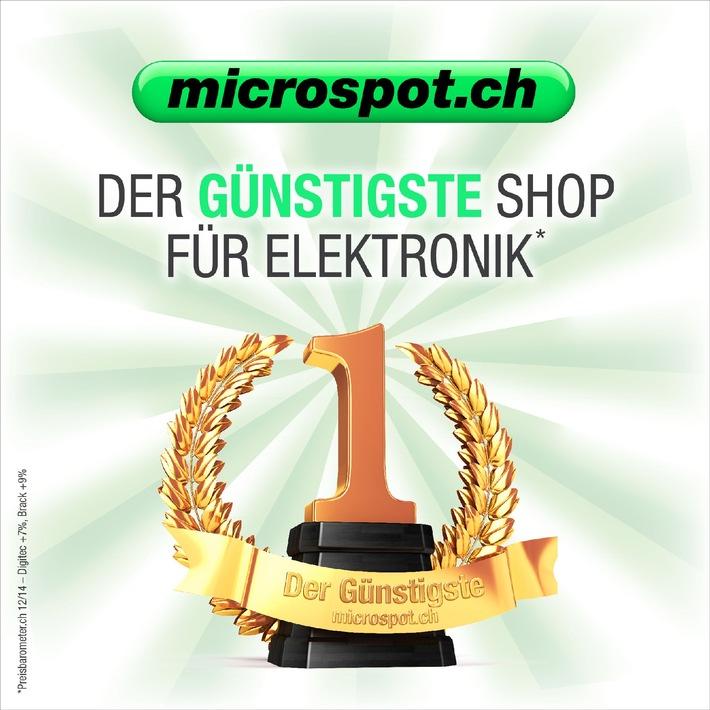 microspot.ch ist günstigster Onlineshop für Heimelektronik