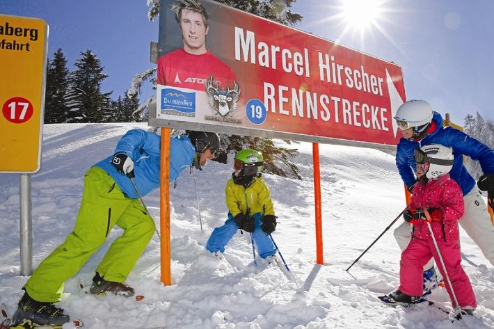 Skifahren im Skigebiet von Weltmeister Marcel Hirscher - BILD