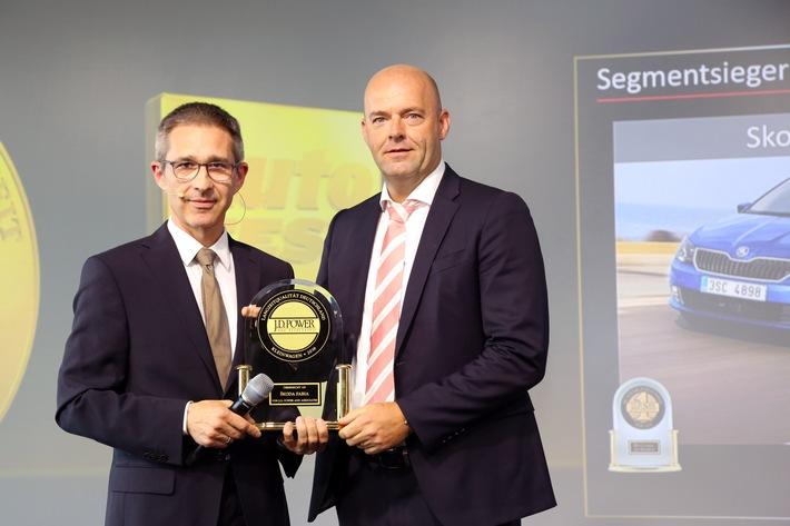 SKODA FABIA und SKODA SUPERB gewinnen J.D. Power Award für höchste Kundenzufriedenheit