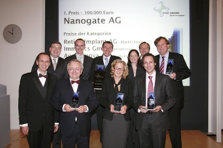 STEP Award 2007: - Kleinste Strukturen mit grosser Wirkung - 100.000 Euro für Nanogate AG