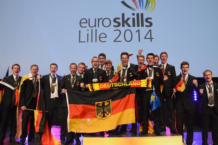 Fünf Goldmedaillen für Team Germany bei EM der Berufe in Lille