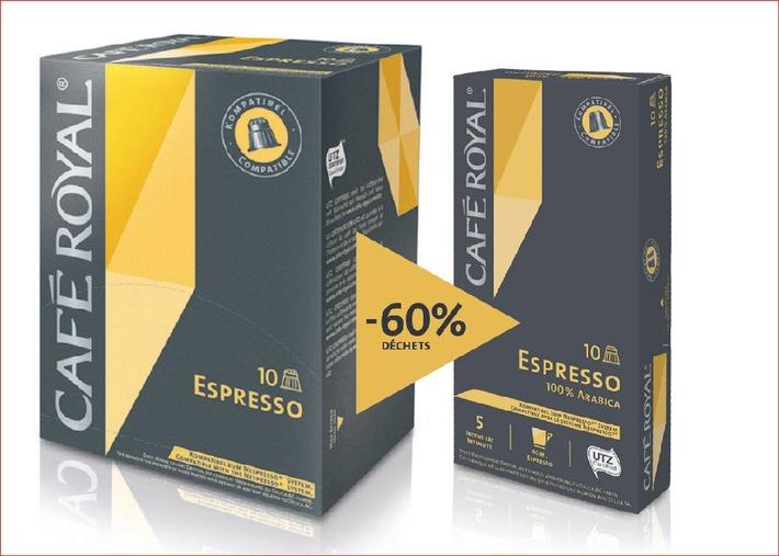 Migros: capsules de café Café Royal dans de nouveaux emballages
