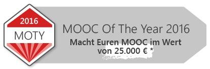 Wettbewerb - Der MOOC of the Year / Jetzt anmelden und mitmachen: Bewerbungsfrist läuft noch bis zum 16. August 2015