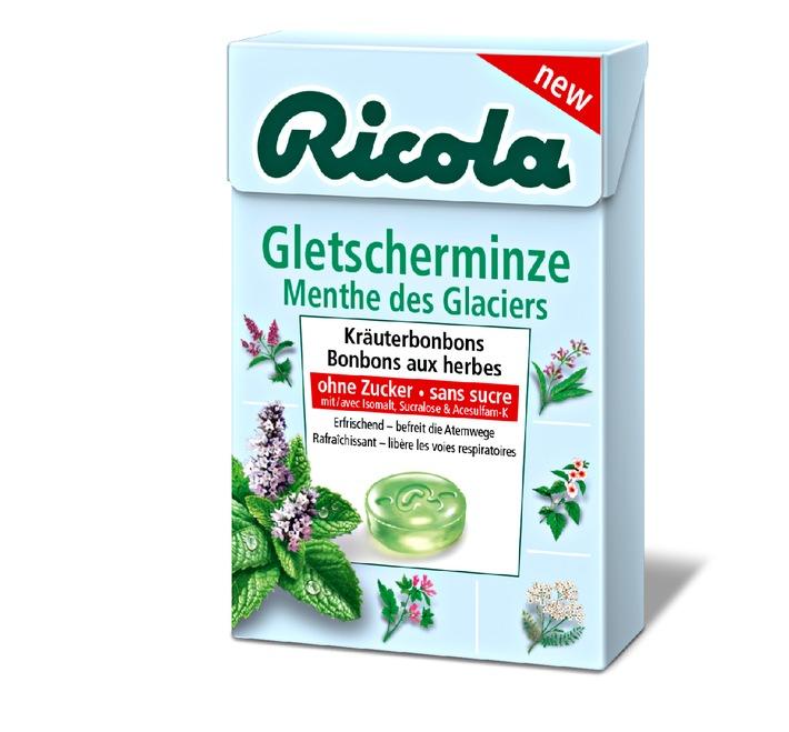 Erfrischend neu: Ricola Gletscherminze (BILD)