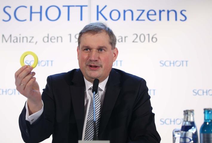Geschäftsjahr 2014/2015: SCHOTT steigert Umsatz und Ergebnis