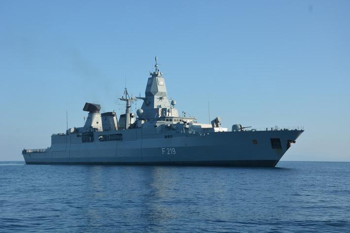"""Fregatte """"Sachsen"""" kehrt vom NATO-Einsatz aus der Ägäis zurück"""