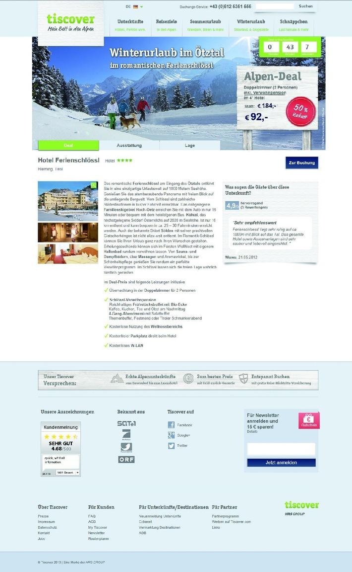 Tiscover Alpen-Deals: Top-Unterkünfte zum Schnäppchenpreis