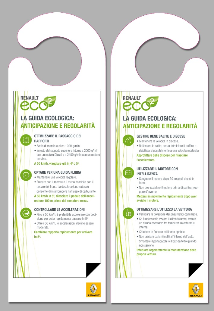 Campagna d'informazione di Renault per la Giornata mondiale dell'ambiente 2009 - la tutela dell'ambiente di Renault, diretta ed efficiente