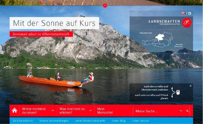 Neues Oberösterreich-Tourismus-Fenster im Internet